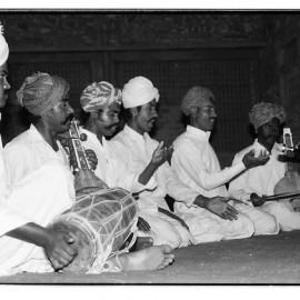The Manganiars (Anwar Khan, Chanan Khan, Multan Khan, Niyaz Khan) performing at Lok Utsav, Tilonia